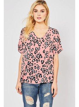 Entro Inc Cheetah print v-neck top