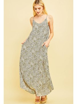 Entro Inc Cheetah print maxi dress