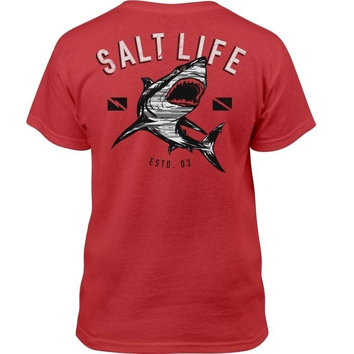 Salt Life CAMO Shark Youth Tee