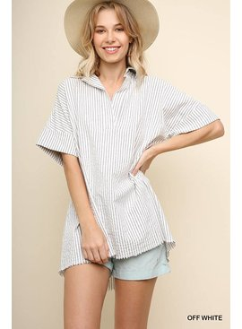 Umgee Collared V-Neck Tunic