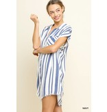 Umgee Button Up Dress with Pocket