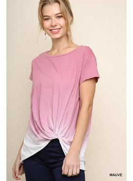 Short Sleeved Ombre Top