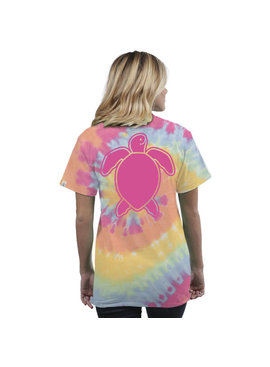 Simply Southern Collection Youth Turtle Washed Logo Short Sleeve T-Shirt in Tie Dye