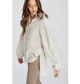 Wishlist Long Sleeve Cotton Windowpane Blouse
