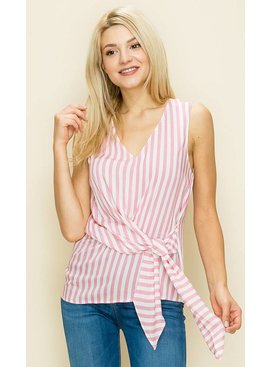 Glam Vertical Stripe Top