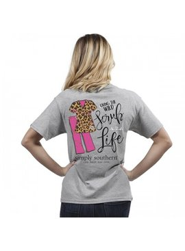 Simply Southern Collection Scrub Life Short Sleeve Tee - Heather Grey
