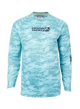 Hook & Tackle Men's Geo Camo L/S UV Fishing Shirt