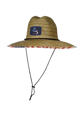 Hook & Tackle American Lifeguard Stretch Fit Straw Hat