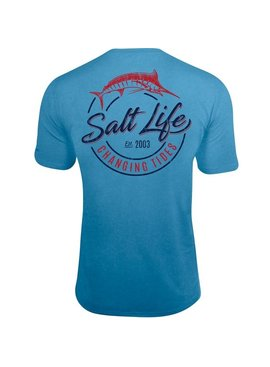 Salt Life Changing Tides Performance Pocket Tee
