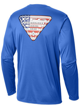 Columbia Sportswear Men's Terminal Tackle PFG Triangle Flag™ Long Sleeve Shirt