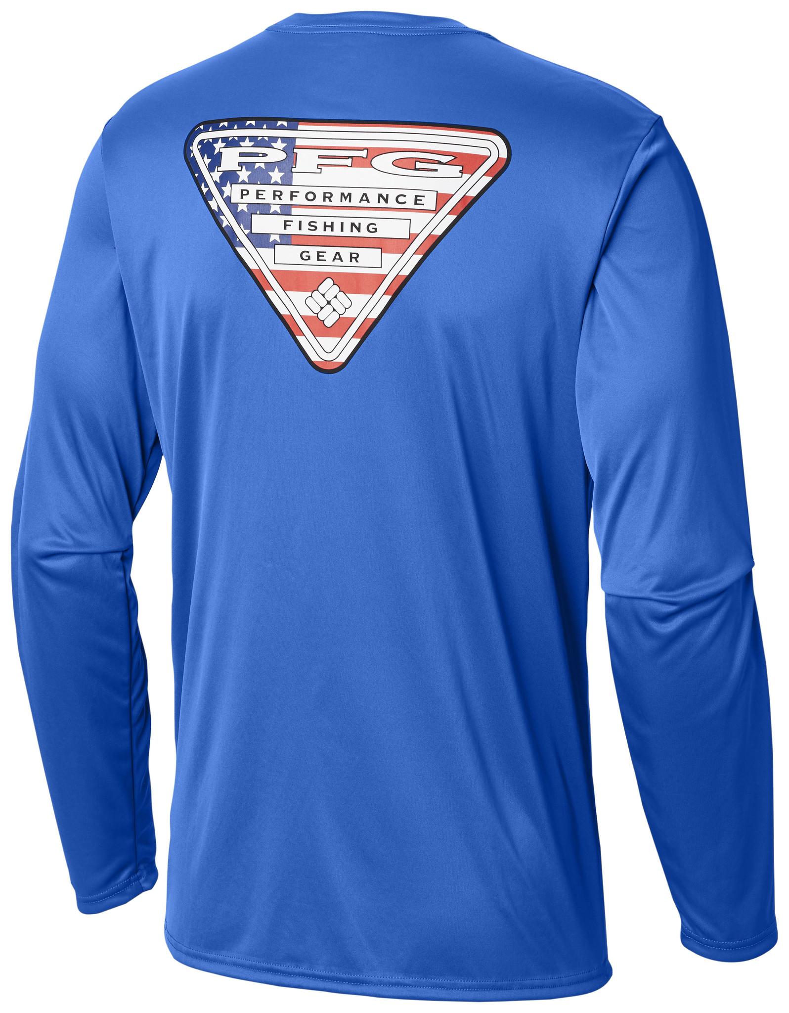 5191a977 Columbia Sportwear Men's Terminal Tackle PFG Triangle Flag™ Long Sleeve  Shirt—Tall ...