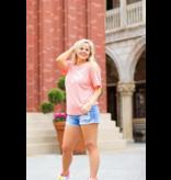 Jadelynn Brooke Be Kind (Heather Coral) - Short Sleeve / V-Neck