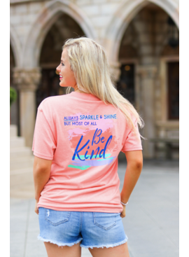 Jadelynn Brooke Be Kind (Heather Coral) - Short Sleeve / V-Neck
