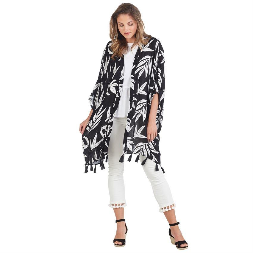 9b46b3bdf1 Kyla Tassel Kimono - King Frog Clothing & The LilyPad Boutique