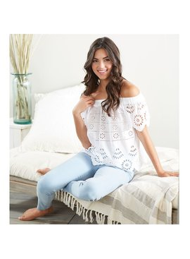 Mud Pie Etta Eyelet Off-The-Shoulder Top