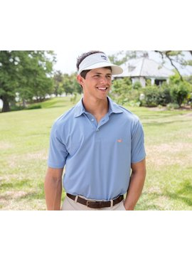 Southern Marsh Bermuda Performance Polo - Johnson Stripe