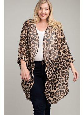 Leopard Kimono Style Cardigan