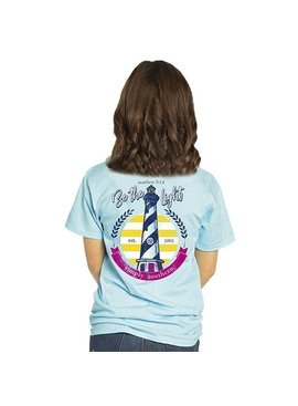Simply Southern Collection Matthew 5:14 Be The Light Short Sleeve T-Shirt - Marine
