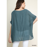 Umgee Sheer Top With Lining