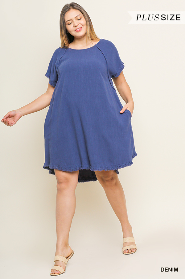 Umgee Linen Pocket Dress