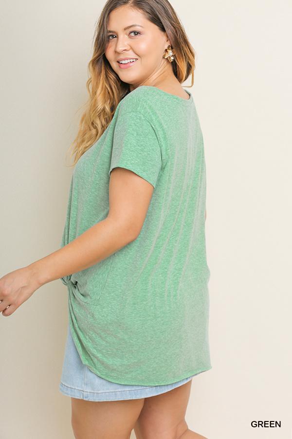 Umgee Basic Short Sleeve Top