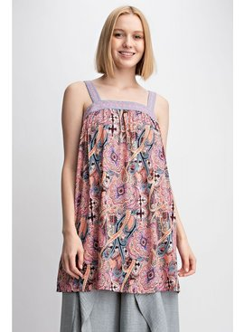Boho Printed Tunic Dress