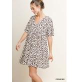 Umgee V-Neck Babydoll Pocket Dress