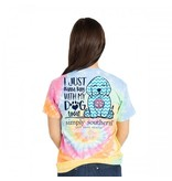 Simply Southern Collection Preppy Dog Short Sleeve T-Shirt - Tiedye