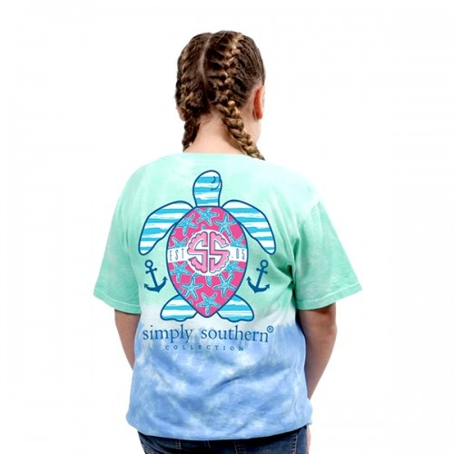 Simply Southern Collection Youth Preppy USA Short Sleeve T-Shirt - Island