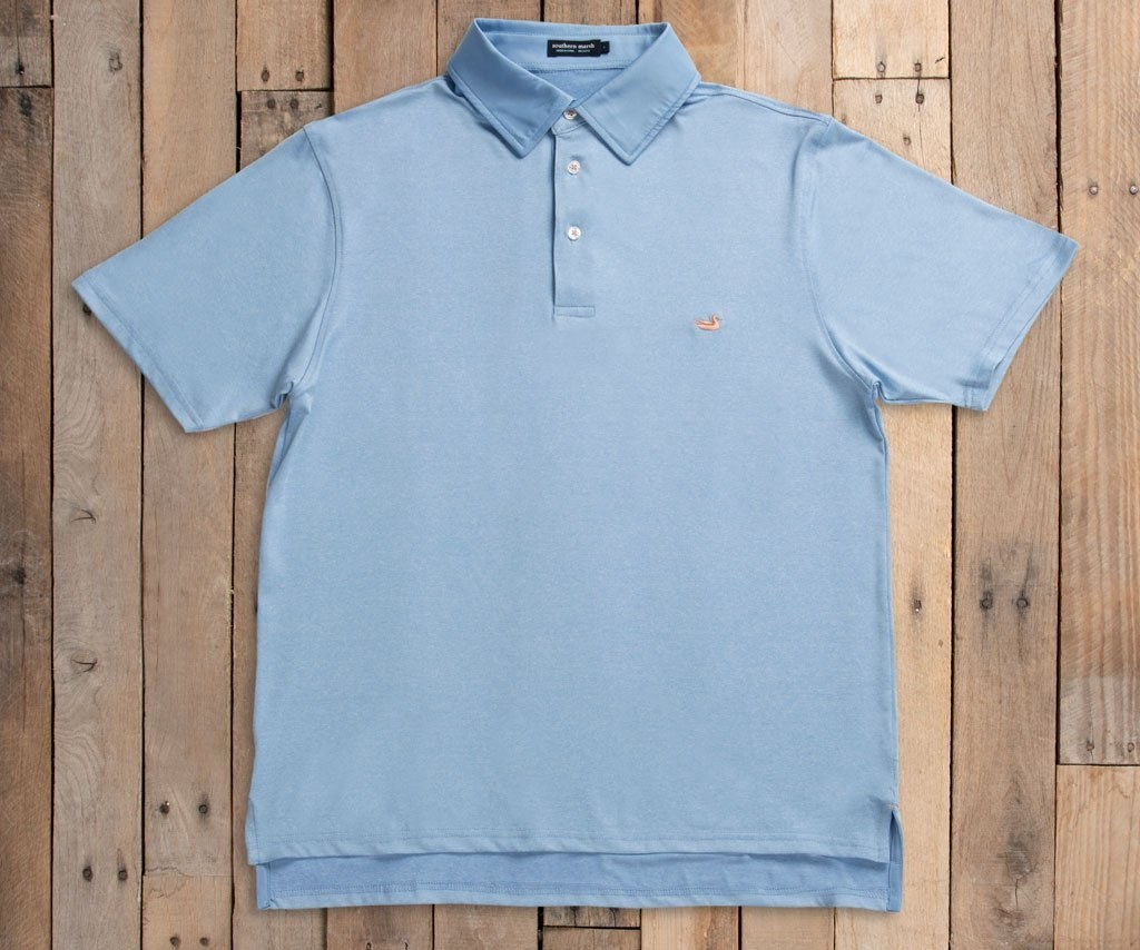 Southern Marsh Rutledge Heather Performance Polo