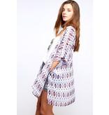 Vine & Love Ethnic Print Kimono
