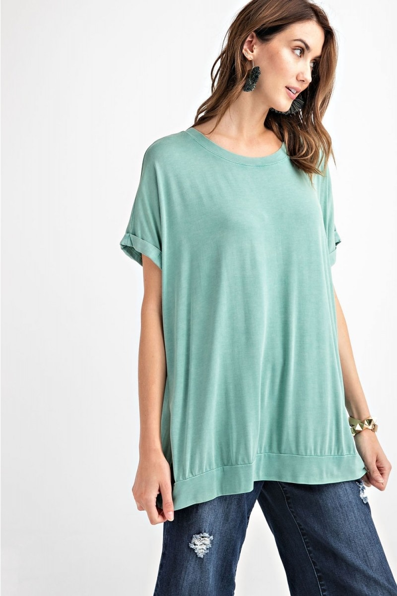 Mineral Washed Oversize Tunic