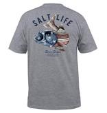 Salt Life Striper Flag Pocket Tee