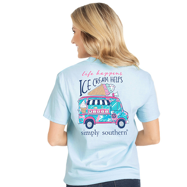 Simply Southern Collection PREPPY ICECREAM SHORT SLEEVE T-SHIRT