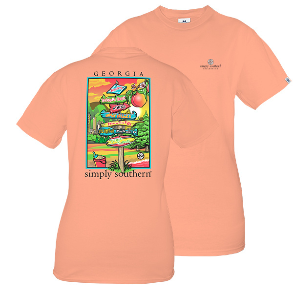 Simply Southern Collection PREPPY GEORGIA SHORT SLEEVE T-SHIRT