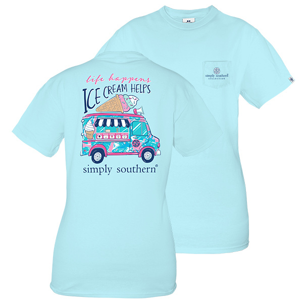 Simply Southern Collection Youth Preppy Ice Cream Short Sleeve T-Shirt