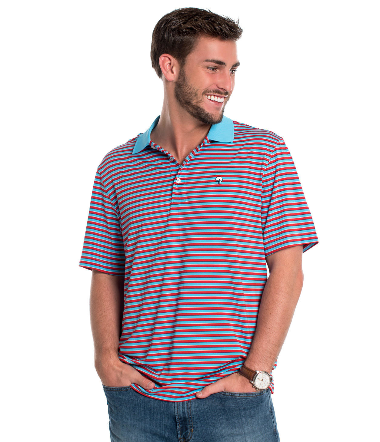 d581a0af1589ee ALCOVE STRIPE POLO - King Frog Clothing & The LilyPad Boutique