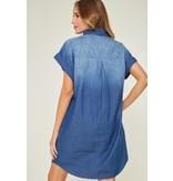 Dip Dye Denim Shirt Dress