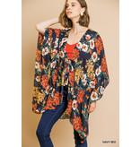 Umgee Floral Print Sheer Kimono