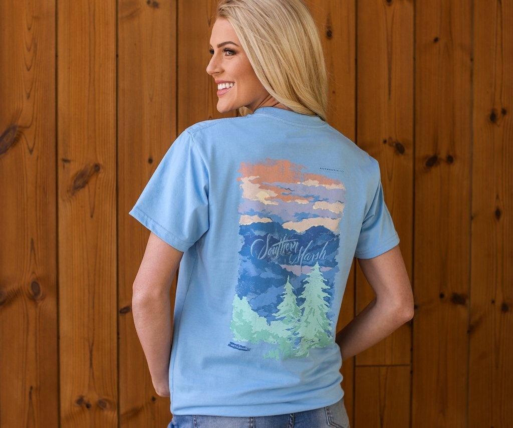 Southern Marsh Southern Horizons Tee - Blue Ridge