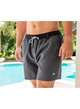 Southern Marsh Dockside Swim Trunk - Herringbone