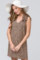 Entro Inc Leopard print v-neck dress