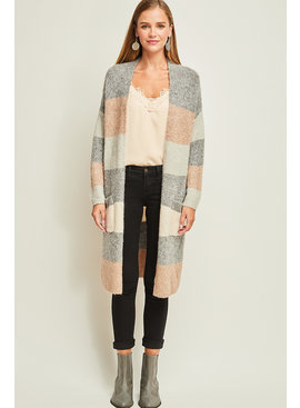 ENTRO Open Front Sweater Cardigan