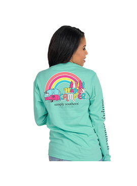 Simply Southern Collection Youth Happy Camper LS T-Shirt