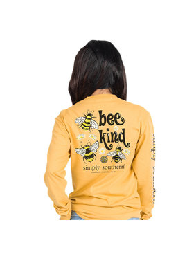 Simply Southern Collection Youth Simply Southern Bee Kind LS T-shirt
