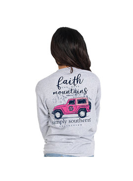 Simply Southern Collection Faith Can Move Mountains Long Sleeve T-Shirt