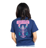 Simply Southern Collection YTH PKT Preppy Lobster Short Sleeve T-Shirt - Midnight