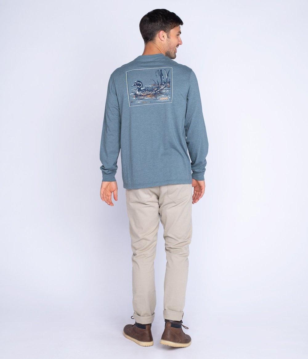 Southern Shirt Wood Duck Tee LS
