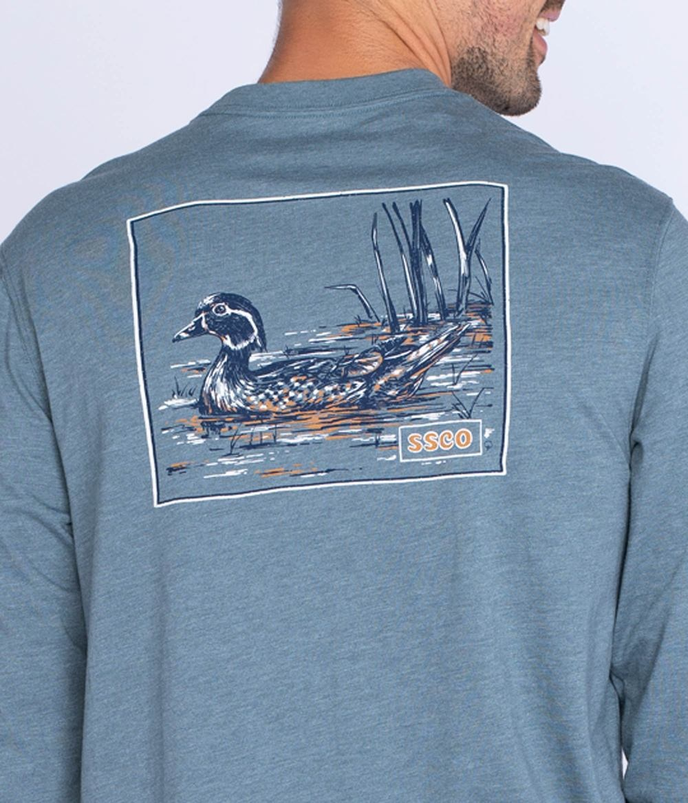 Southern Shirt Wood Duck Tee LS