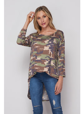 Honeyme Tie Dye Camouflage Top